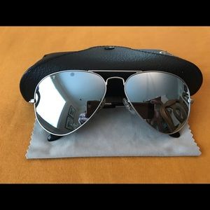 Accessories - RAY-BAN Aviator Polarized Flash Lense Sunglasses